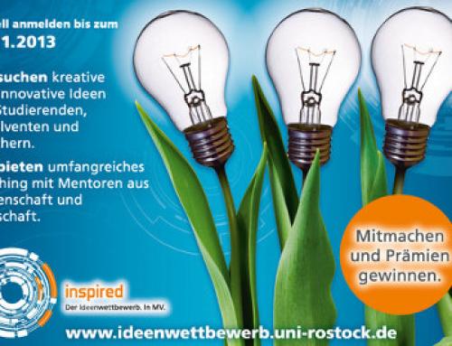 Ideenwettbewerb Uni Rostock – jede Gründung startet mit einer Idee